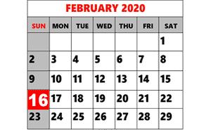Presidents Day Dinner – February 16